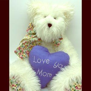 "Boyd's Bear Authentic w/tag Love Mom 16"" white"